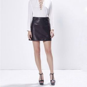 Rebecca Minkoff Jennifer Leather Mini Skirt